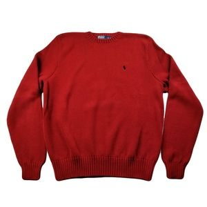 Polo Ralph Lauren Men's XL Sweater Red Pima Cotton